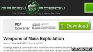 Chronic Dev's homepage
