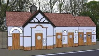 Artist's impression of new toilets in March, Cambridgeshire