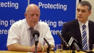 Clive McNamee (left)