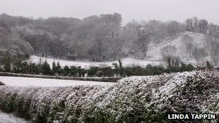 Snow in Chinnor, South Oxfordshire