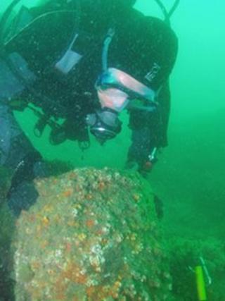 Diver exploring the Solent