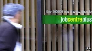 Man passes a Job Centre Plus