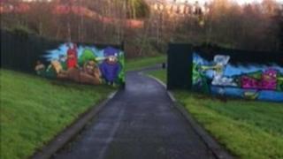 Alexandra Park peace wall gates