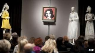 Some of the items up for auction at the 'Collection of Elizabeth Taylor' sale at Christie's in New York, US, 14 December 2011