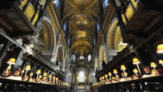 Choristers at St Paul's Cathedral