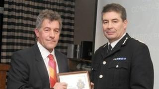 David Bartles-Smith received the award from Durham Chief Constable Jon Stoddart