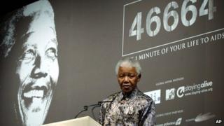 Nelson Mandela in October 2003