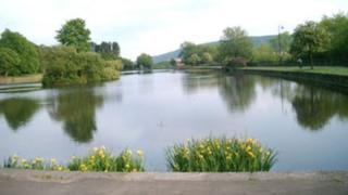 Cyfarthfa Park lake