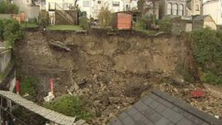 A 30ft section of the wall in Marlborough Terrace collapsed earlier this week