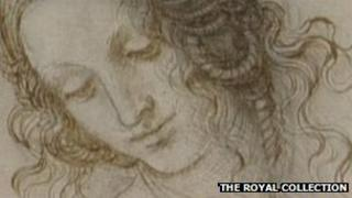 Leonardo da Vinci drawing of a woman