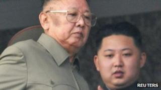 Kim Jong-il (left) and Kim Jong-un