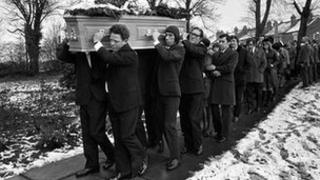Funeral of Lesley Whittle 1975