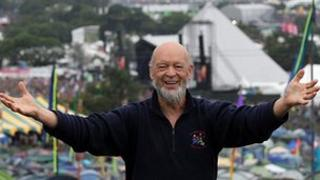 Michael Eavis at the Glastonbury Festival 2011