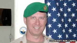Lt Col Capps, shown in Darfur