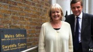 Cheryl Gillan and Wales Office minister David Jones