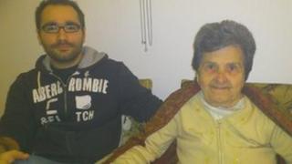 Tasos Dimitriadies and his grandmother Katerina Leta