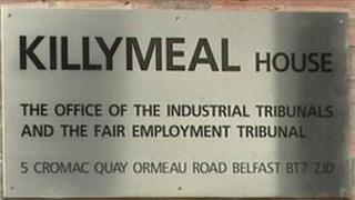 Industrial tribunal sign, Belfast