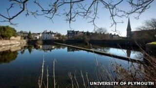 Drake's Place reservoir. Pic: University of Plymouth