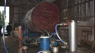 South Armagh illegal fuel plant