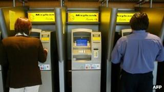 Consumers using ATMs in Malaysia