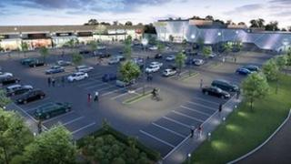 Artist impression of the Manor Walks Shopping Centre. Photo: Hammerson plc