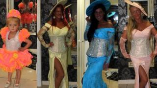 Dresses designed by Suzanne and Carol Baber