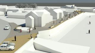 Graphic of how new promenade may look