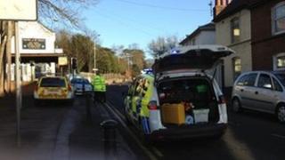 The scene of the crash in Prospect Street