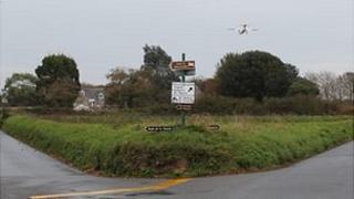 Route de la Tourelle junction with Plaisance Road