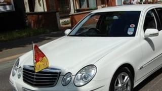 Wellingborough's mayoral Mercedes.