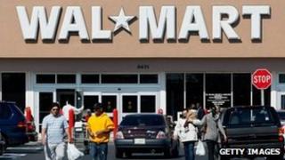 Walmart shop sign file picture