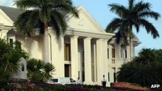 File photo of Stanford's Stanford International Bank (SIB) in St John's Antigua