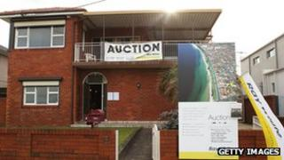 A home for auction in Australia