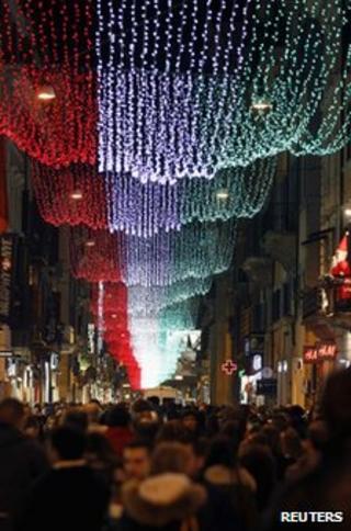 Italian Christmas lights