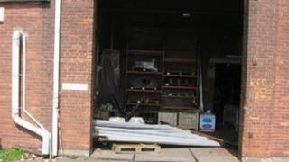 The door which caused the injuries. Photo: HSE