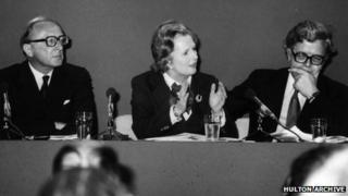 Margaret Thatcher, Peter Carrington and Geoffrey Howe