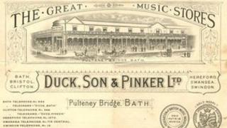 Duck, Son & Pinker bath music shop papers