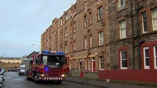 Fire engine at scene