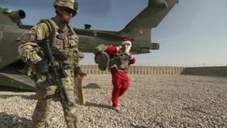 Santa in Helmand, Afghanistan