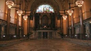 St George's Hall tiled floor