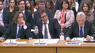 Steve Coogan, Hugh Grant and Max Mosley give evidence to the Joint Committee on Privacy and Injunctions