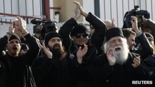 Protest against Abbot Ephraim's detention, 28 Dec 11