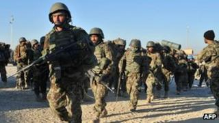 Afghan security forces in Helmand