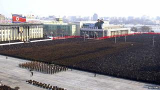 Over a million people turned out for the memorial service