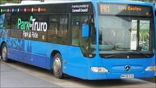 A Truro Park and Ride bus