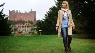 Sian Lloyd at Powis Castle