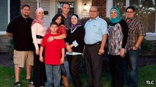 Promotional photo of the Amen family from All American Muslim