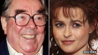 Ronnie Corbett and Helena Bonham Carter