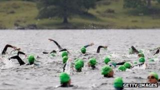 Great North Swim on Windermere