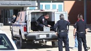 Confiscated explosives being removed from Midland airport